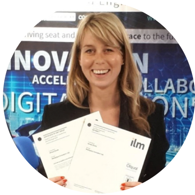 Aimee Doole achieved her ILM Leadership qualification